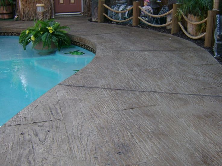 Beautiful Deckrete Concrete Resurfacing U0026 Waterproofing   South El Monte, CA, United  States. Pool Deck   Wood Design Stamped Concrete Overlay | Pinterest |  Concrete, ...