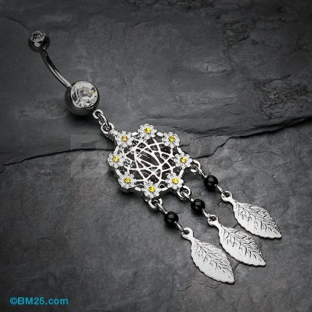 Daisy Glam Dreamcatcher Belly Button Ring $9.95