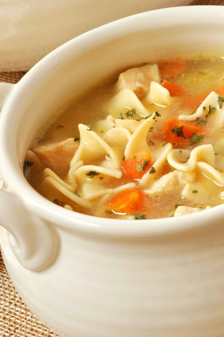 ****/5 - Quick and Easy Chicken Noodle Soup Recipe REVIEW:  This was good and easy.  I made it with homemade chicken stock and I forgot to skim the grease so it was a little greasy.  That is my fault though.