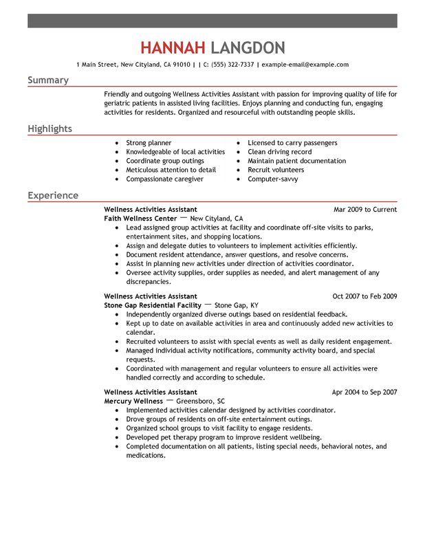 Create a winning Wellness resume in minutes with this overview of - resume requirements