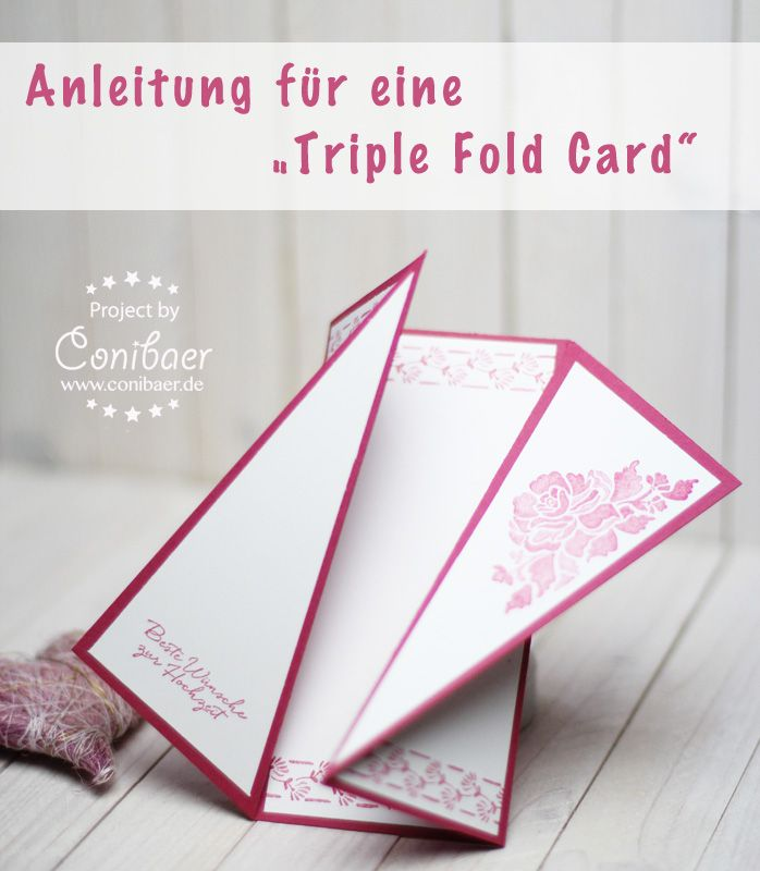 Stampin´Up!, Anleitung, Tutorial, Papier, Karte, Hochzeit, selbstgemacht, Video, Triple Fold Card