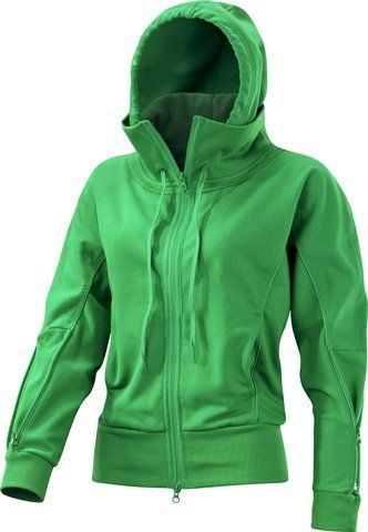 Adidas Stella McCartney Run Hoodie in Real Green