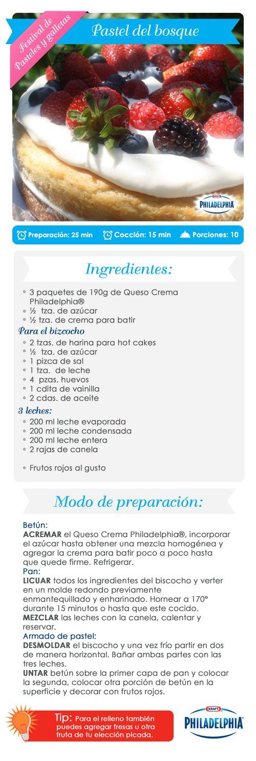 Pastel del Bosque cream cheese