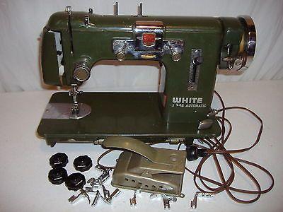 white sewing machine motor