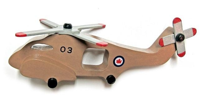 Handmade Wooden Toy Helicopter, Part of Top Gun Aircraft Carrier Play Set, #odinstoyfactoy #handmade #woodentoys #aircraft  #helicopter