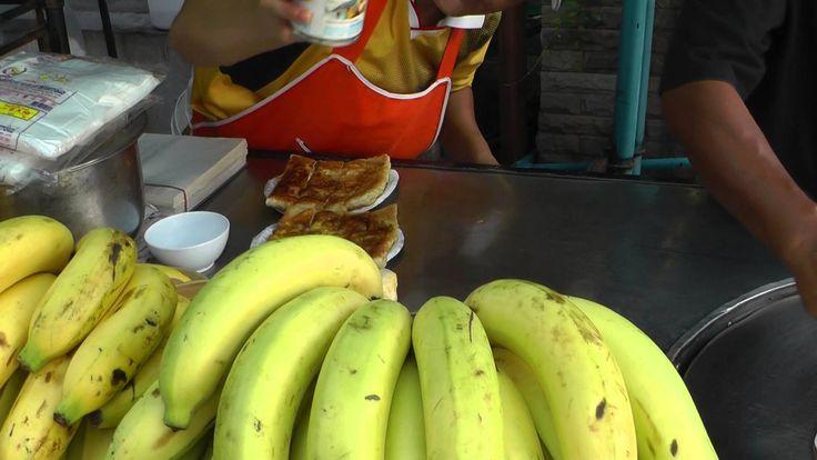 Тайланд.Уличная еда-банановые блинчики