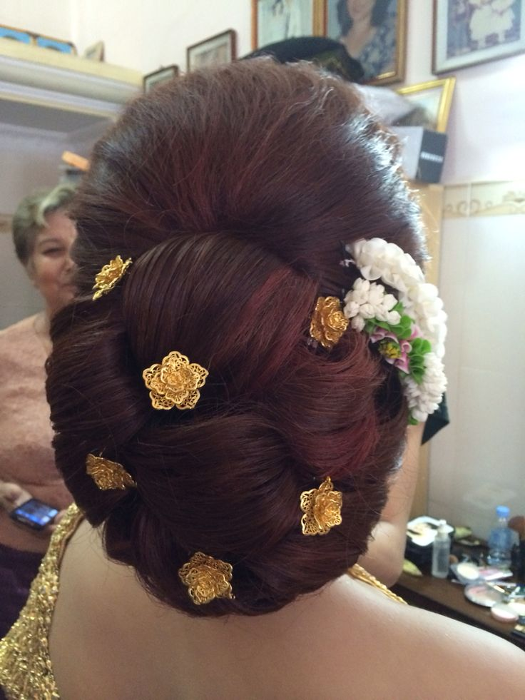 Khmer wedding hairstyle by kimchy.ngov