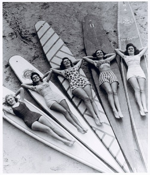 Surf sirens, Manly beach, New South Wales. 1936.
