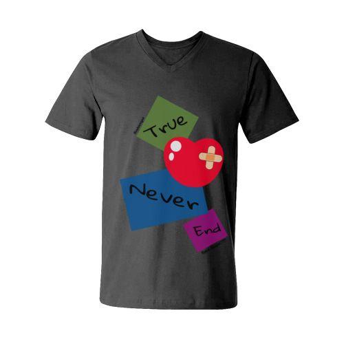 kata siapa true love never end dari tees.co.id Oleh Anyok Design