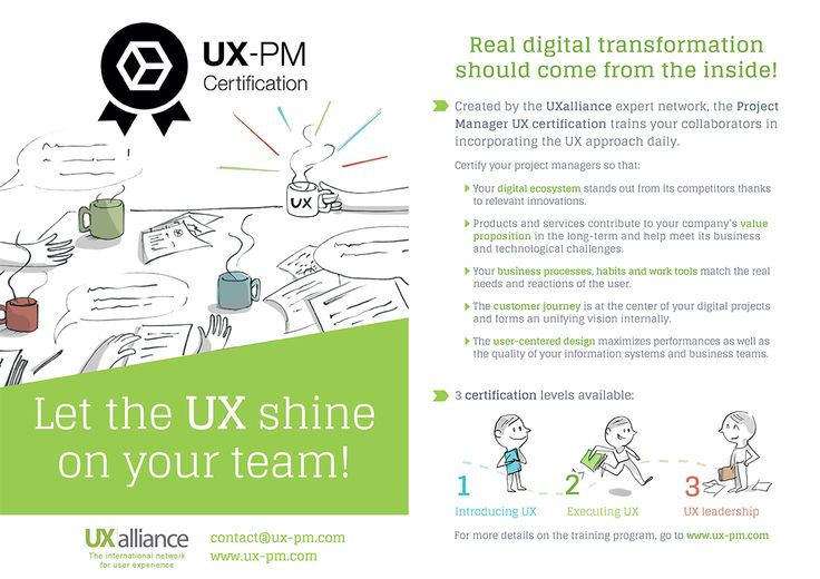 Promotional flyer of UX-PM Certification | INFOGRAPHICS & POSTERS by ...