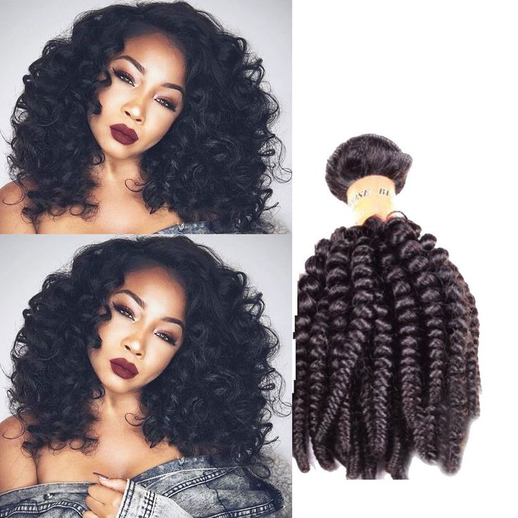 "3Bundles 18"" 150g Brazilian 100% Real Human Hair Extension Kinky Curly Black #Unbranded"