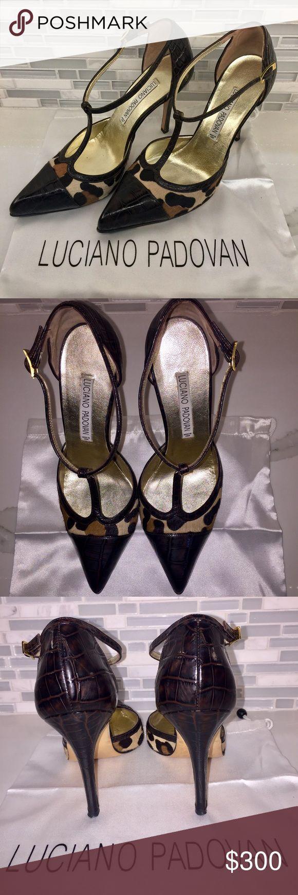 Croc/Animal Pony hair Mary Jane's, like new. Croc/Leather Pony Hair Mary Jane's in brand new condition Luciano Padovan Shoes Heels