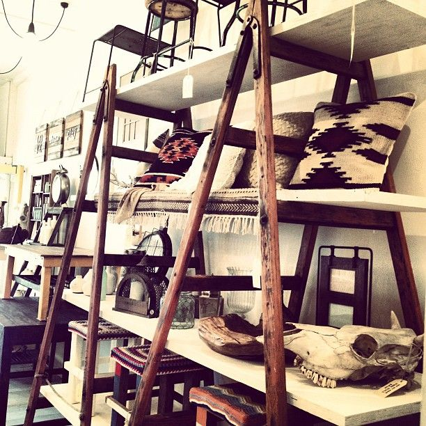vintage ladder shelving ideas pinterest