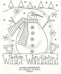 Winter Wonderland stichery from Chestnut Junction