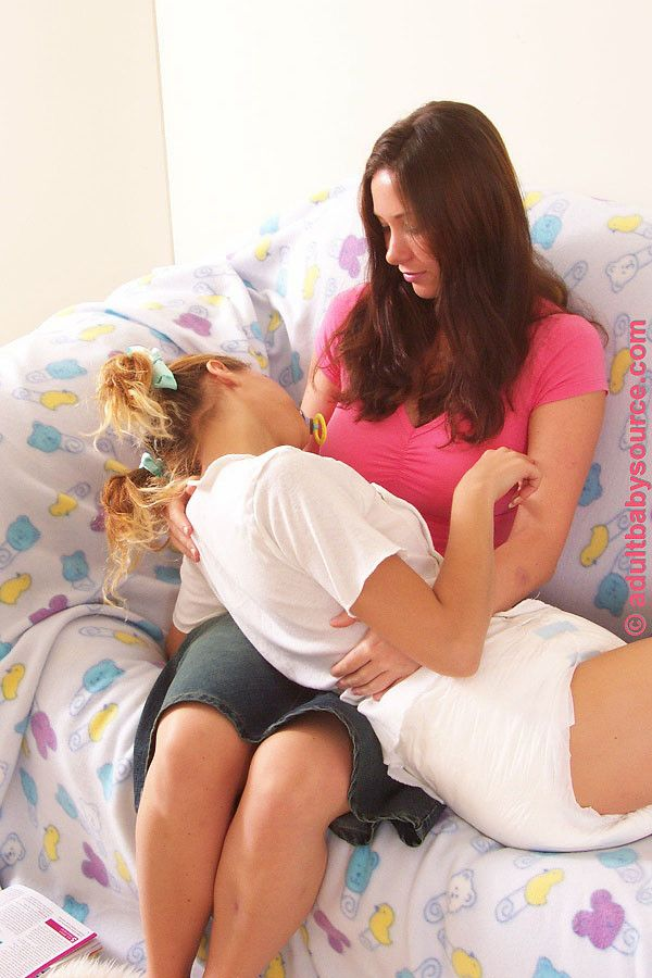 Adult babies breastfeeding