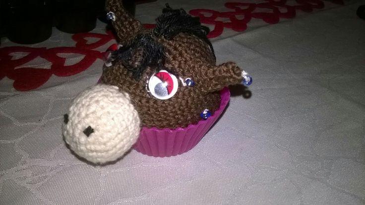 Paard cupcake selfmade
