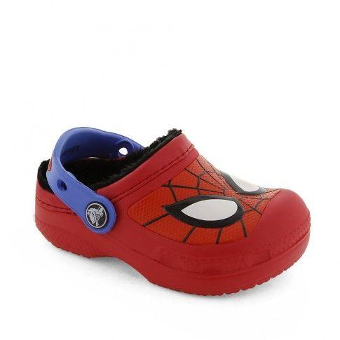 Incaltaminte interior baieti Spiderman lined Red - #Crocs