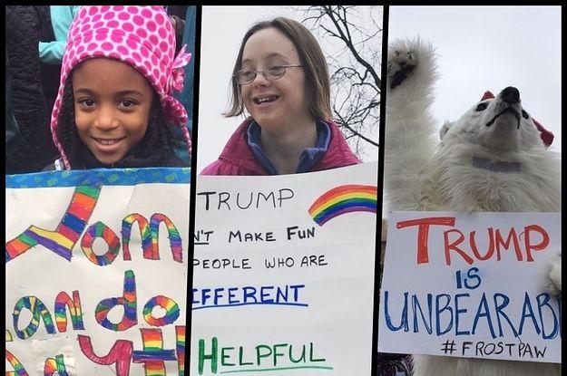 女性大行進に舞った抗議のプラカード 共感を呼んだ英語表現20選