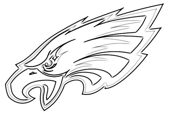philadelphia eagles coloring pages for kids | Philadelphia+Eagles+Logo+Coloring+Page | Eagles ...