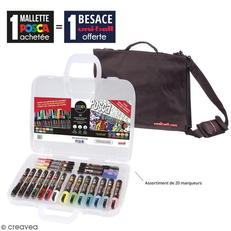 Compra nuestros productos a precios mini Oferta Especial: Maletín de 20 rotuladores Posca Colores Surtido + Bandolera negra Uniball - Entrega rápida, gratuita a partir de 89 € !
