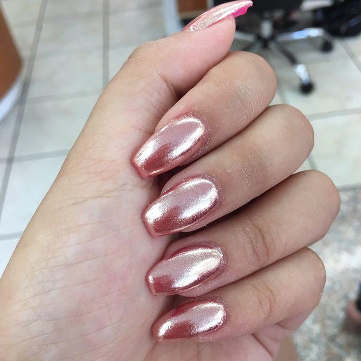 Photo of QD Nails & Spa - San Diego, CA, United States. Pink Chrome nails