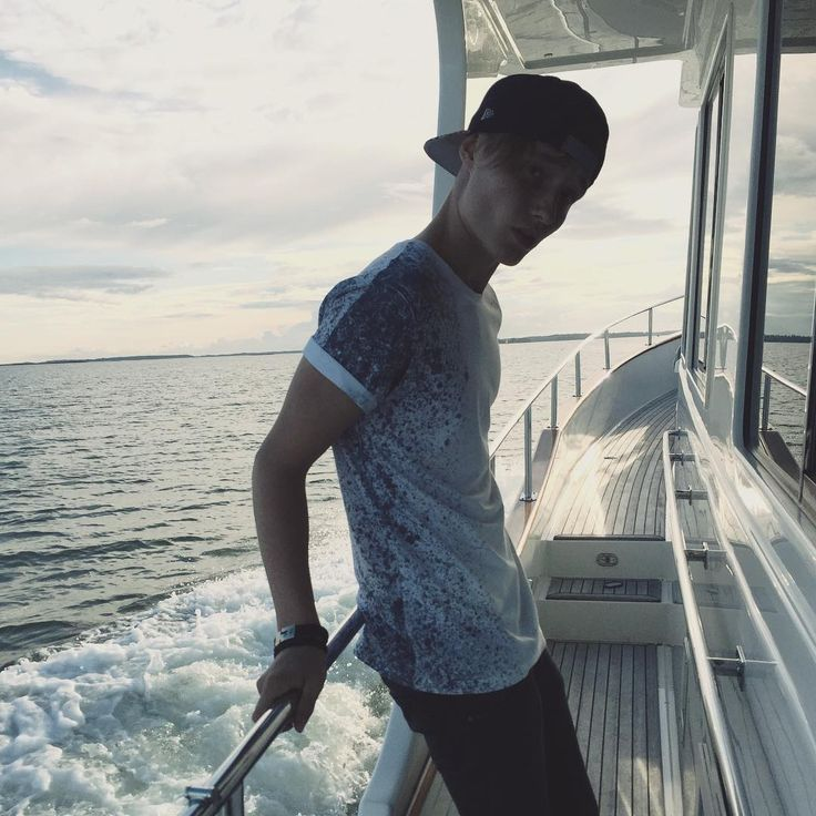 On a boat.