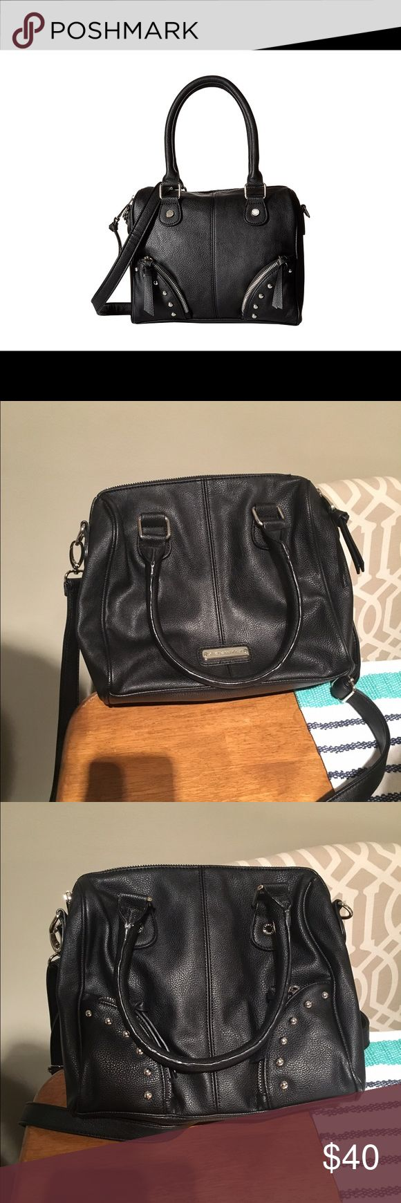 Steve Madden Mini Crossbody Handbag Black faux leather, Steve Madden, Black pebble color, perfect size crossbody Steve Madden Bags Crossbody Bags
