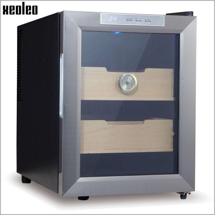 Xeoleo cigar humidor caja de almacenamiento de gabinete 33l cigarro eléctrico termostático de humidificación y constante humedad hidratante cigarro