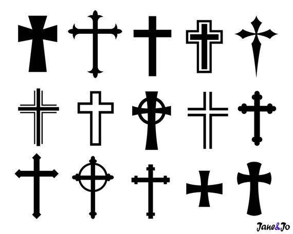 Cross Svgcross Svg Silhouette Filescrosses Vector Png Dxf Etsy In 2020 Cross Clipart Cross Vector Cross Svg