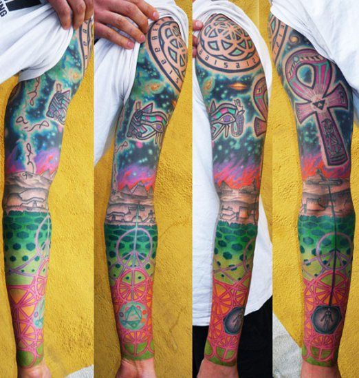28 Colored Full Sleeve Tattoos: 1000+ Images About Tattoo - Sleeves On Pinterest