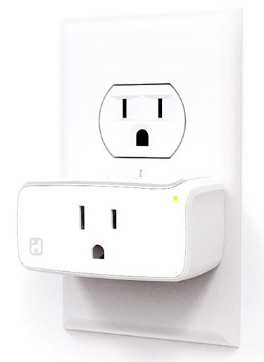 iHome WiFi-enabled Smart Plug - This wi-fi enabled wall plug allows you to control home appliances like lighting, fans, or humidifiers remotely through the simple iHome app. It works with iOS 8.1 or later & Android Jelly Bean 4.2 & later. | via werd.com