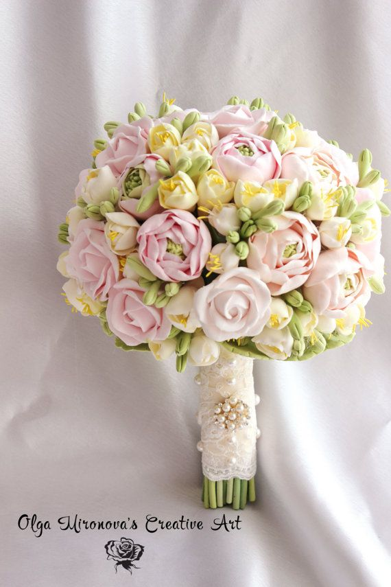 Bridal Bouquet. wedding bouquet, Gorgeous  Roses and ranunculus fresias Bouquet. Shabby chic gentle pastel colors Bridesmaid bouquet