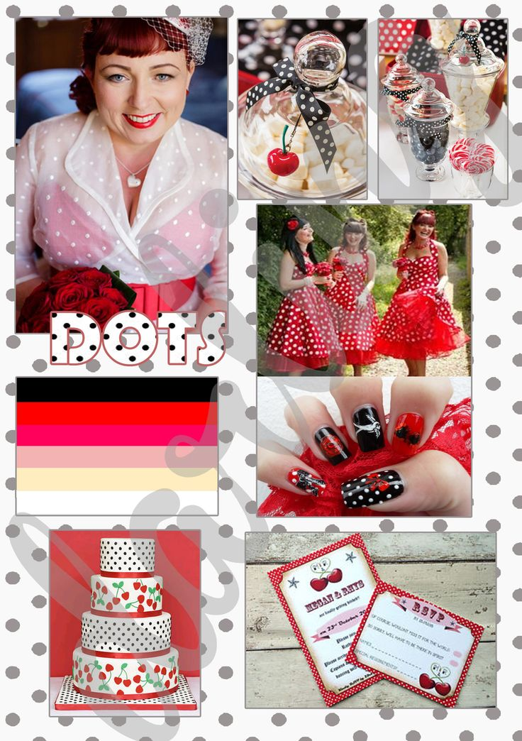 Dots- everywhere dots! To funny brides who loves dots.