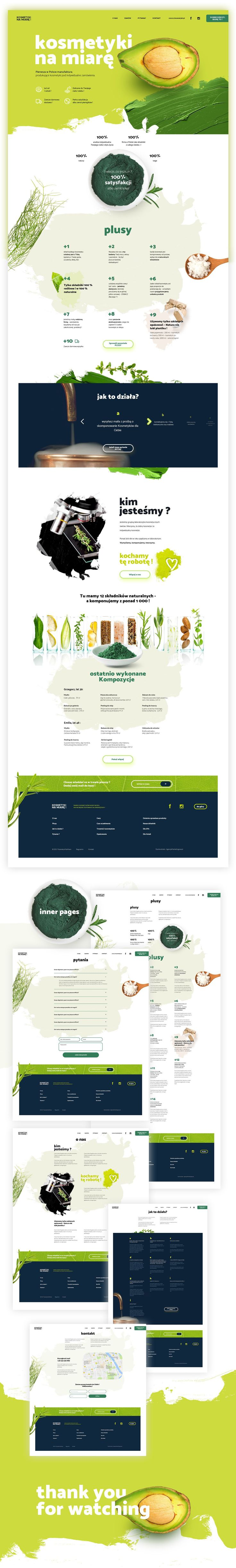 Natural cosmetics manufacture website