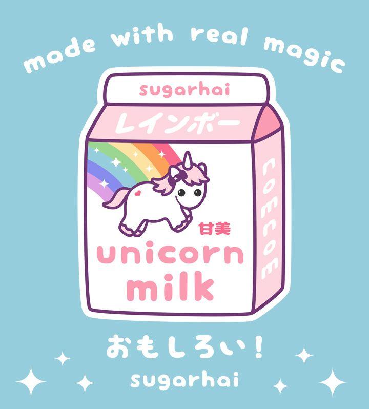 Japanese Unicorn Milk Kawaii Doodles Kawaii Quotes Unicorn