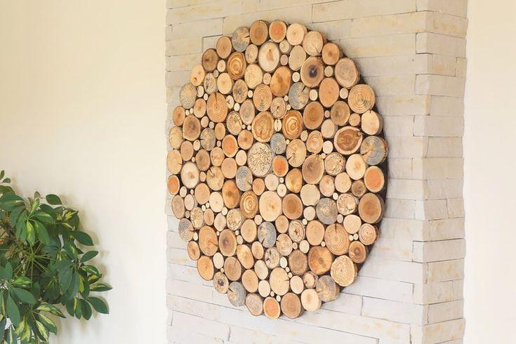 Reclaimed Wood Wall Art, Round Wall Decor Wood