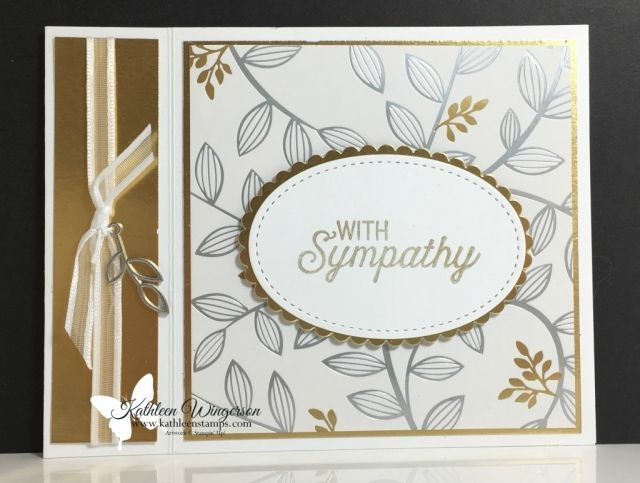 Welcome, Stampers! Just when we least expect it, we are in need of a sympathy card. Sympathy cards are never fun to create and often bring tears to our eyes. I am hopeful that this card will fill your need. When designing this card, I wanted something that you can use for a variety of occasions. …