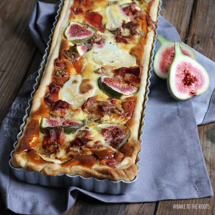 I love a good quiche! Goat Cheese Quiche with Serrano and Figs