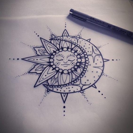 tat cards celestial tattoo a tattoo traditional google sun moon ...