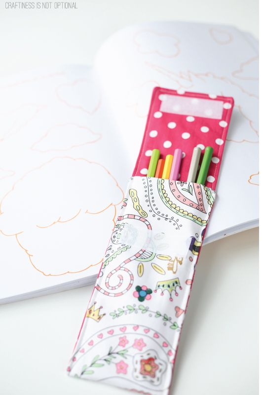 color me fabric pencil pouch