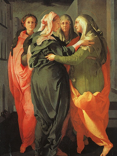Mary and Elizabeth Pontormo Visitation 1528-29 Oil on wood, 202 x 156 cm San Michele, Carmignanotion