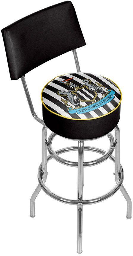 Kohl's Newcastle United FC Swiveling Chrome Bar Stool with Back