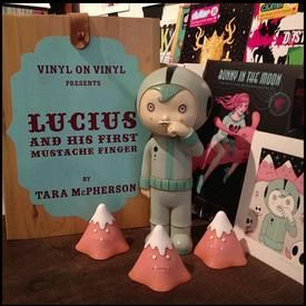 Lucius and His First Mustache Finger by Tara McPherson & Vinyl on Vinyl