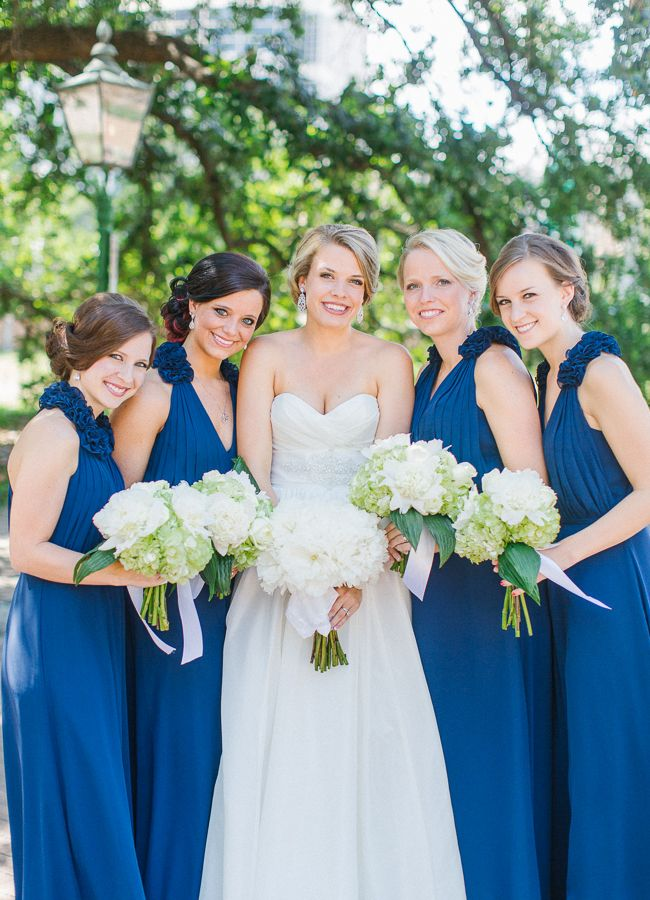 blue bridesmaid dresses http://www.weddingchicks.com/2013/10/09/elegant-southern-wedding/