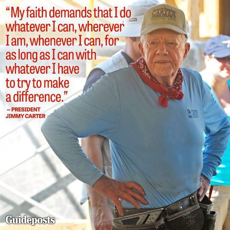 Jimmy Carter, former President of the United States Luvs Jimmy. I get a Christmas card every year from him and Roslyn - habitat for humanity.