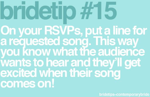 song requests on the RSVP