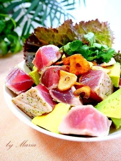 まぐろの炙り焼きとアボカドのポキ丼 by mariaさん   レシピブログ ...