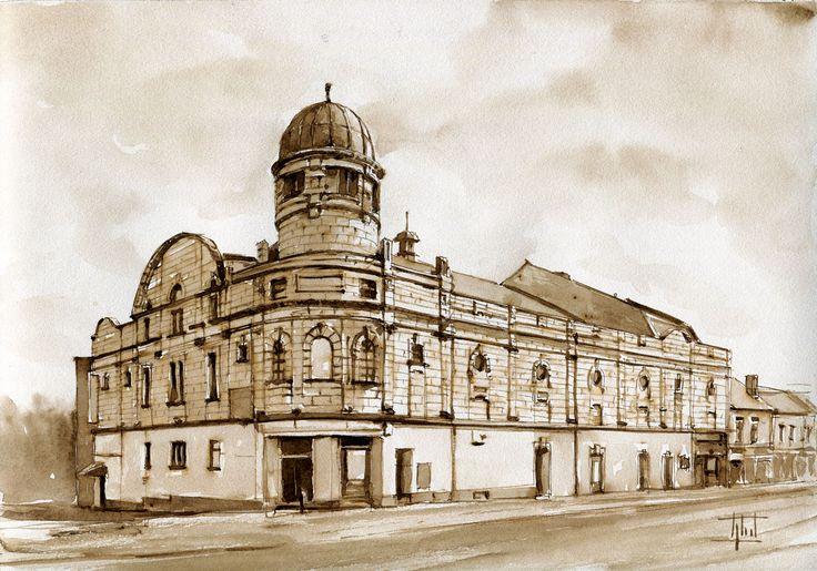 Abbeydale Cinema - #Sheffield, UK #Watercolour - 21cm x 30cm Jaroslaw Glod - http://www.artende.pl