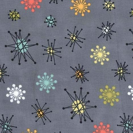 Can't decide between this or solid coral to go with the Atomic Tabby print.    PC6317 Multi Star Jacks geometrics gray grey multi