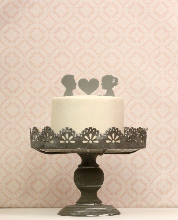 Let Simply Silhouettes Make ACustom Silhouette Wedding Cake Topper